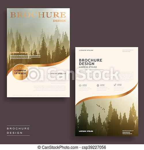 Elegant brochure template. Elegant brochure template design with ...