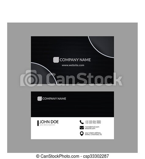Abstract elegant business card template vector search clip art elegant business card template csp33302287 cheaphphosting Gallery