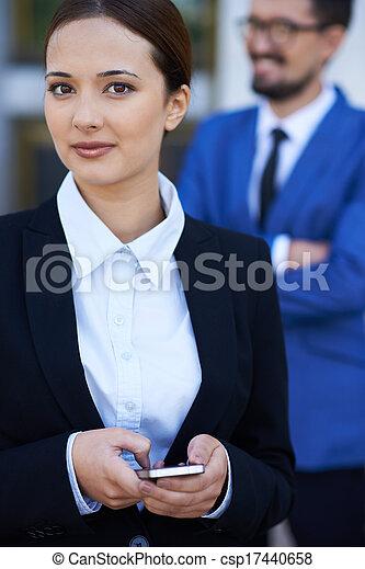 Elegant businesswoman - csp17440658