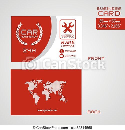 Elegant car workshop business card art creative design of car elegant car workshop business card art csp52814568 colourmoves