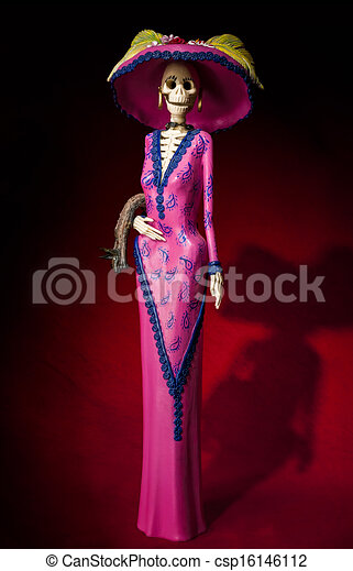 Elegant Catrina Day Of The Dead Day Of The Dead Traditional