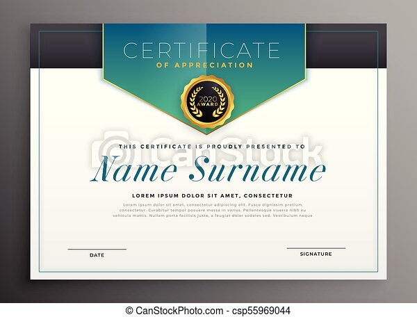 elegant certificate template with luxury modern design
