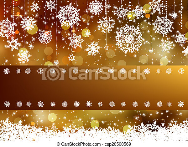 Elegant christmas background. EPS 8 - csp20500569