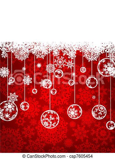 Elegant christmas background. EPS 8 - csp7605454