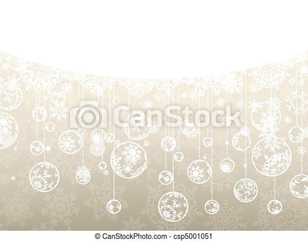 Elegant christmas background. EPS 8 - csp5001051