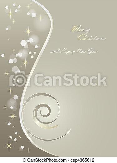 Elegant Christmas background - csp4365612