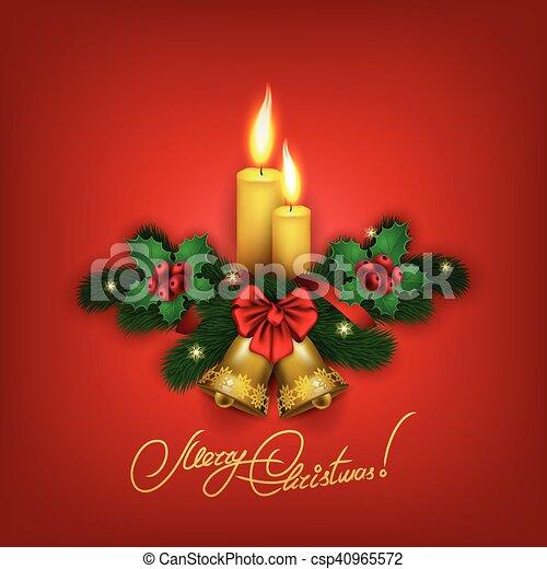 Elegant Christmas background with balls - csp40965572