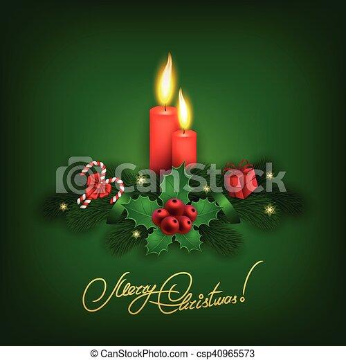 Elegant Christmas background with balls - csp40965573