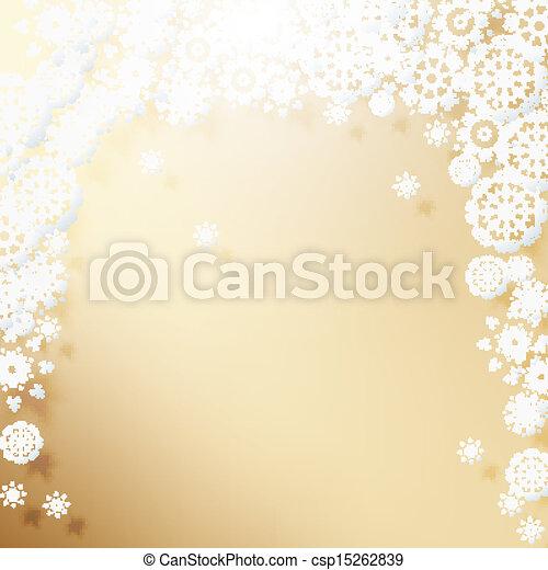 Elegant Christmas background with snowflakes. - csp15262839