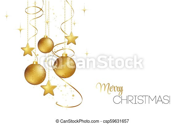 Elegant Christmas Background Images.Elegant Christmas Background With Gold Baubles