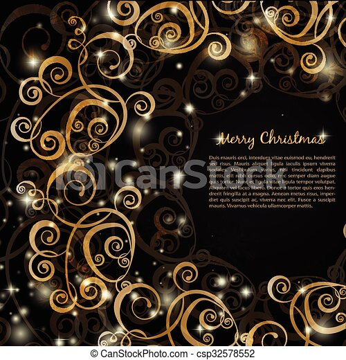 elegant christmas red background csp32578552 - Elegant Christmas