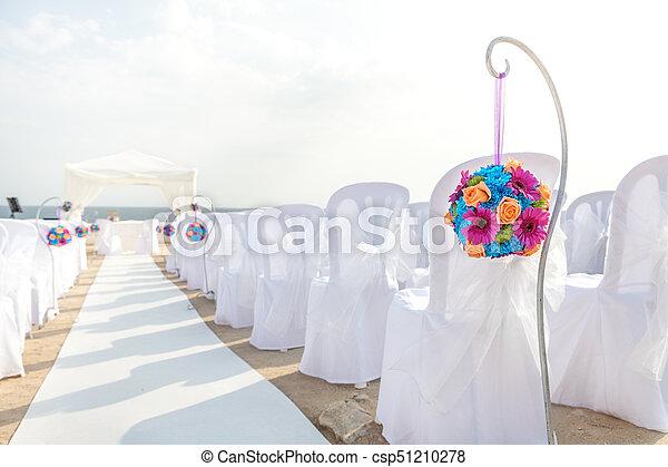 Elegant decorations for the wedding ceremony. - csp51210278