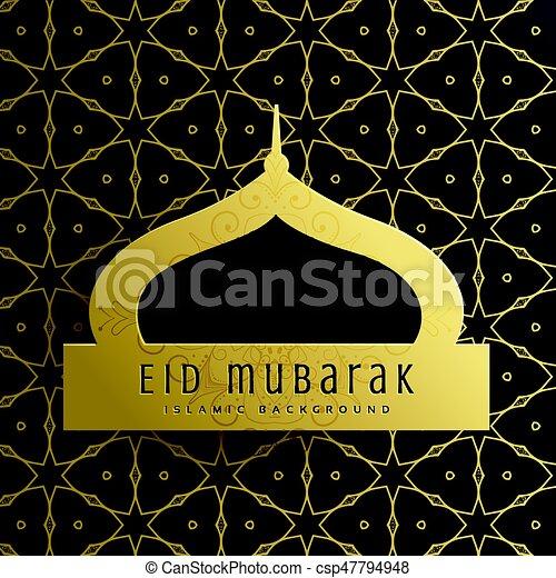 Elegant eid mubarak greeting card design with islamic pattern elegant eid mubarak greeting card design with islamic pattern csp47794948 m4hsunfo