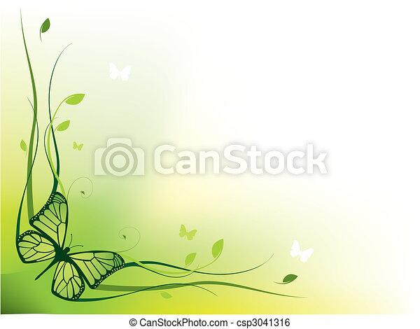Elegant floral border - csp3041316