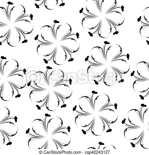 Elegant Floral Seamless Pattern Black And White Wallpaper Flower Texture