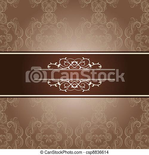 elegant frame on beautiful damask b - csp8836614