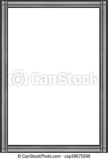 elegant, frame, randjes, ontwerp, witte  - csp39675598