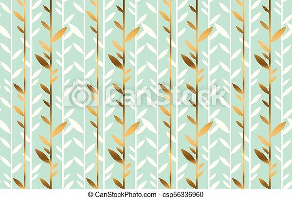 Simple Elegant Line Art : Elegant gold and pale green leaf seamless pattern simple clip
