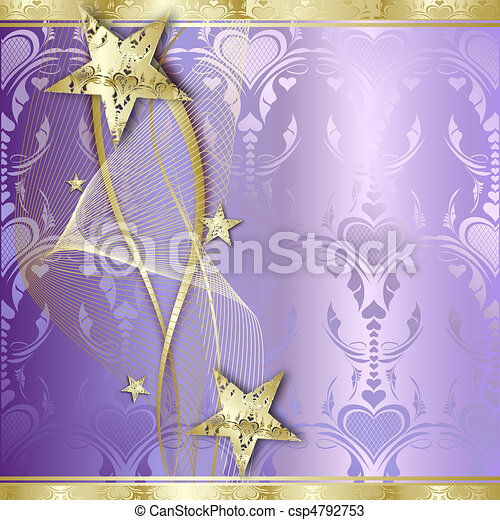 Elegant Gold Background with stars - csp4792753