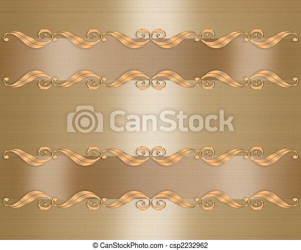 Elegant Gold wedding invitation  - csp2232962
