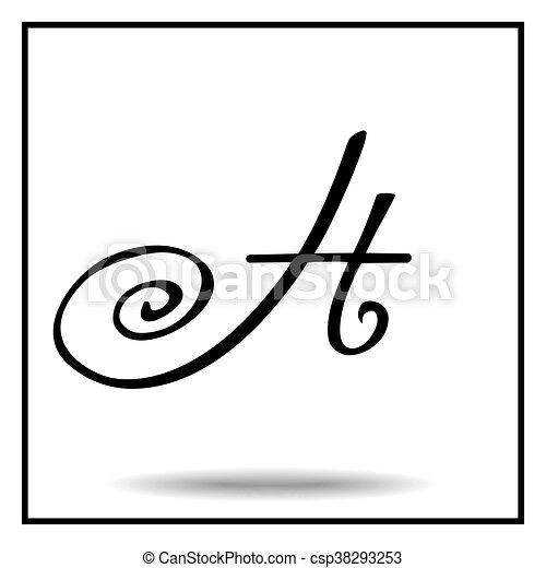 Elegant Handmade Alphabet Elegant Handmade Font Black And White