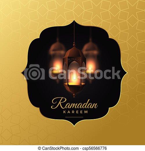 elegant hanging lanterns ramadan kareem background - csp56566776