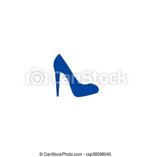 Elegant high heel shoe vector icon - csp38598045