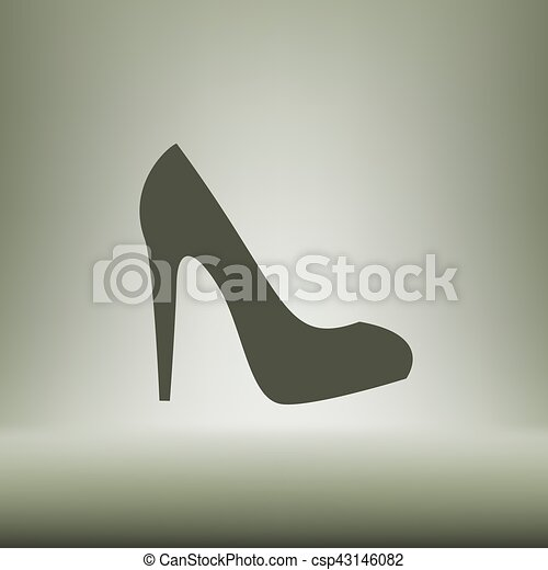 Elegant high heel shoe vector icon - csp43146082