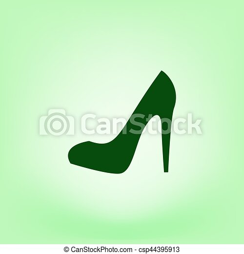 Elegant high heel shoe vector icon - csp44395913