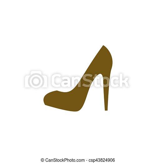Elegant high heel shoe vector icon - csp43824906