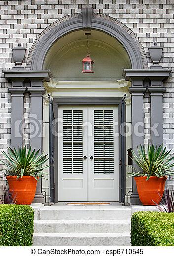 Elegant Home Front Door - csp6710545