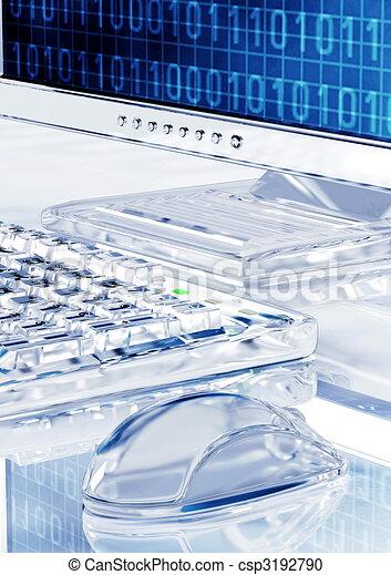 Elegant Icy Look computer  - csp3192790