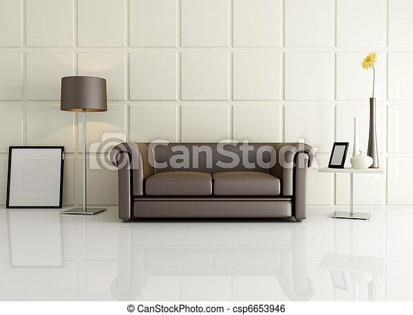 elegant, kamer, levend - csp6653946