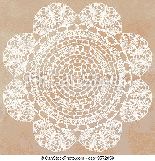 Elegant lacy doily - csp13572059