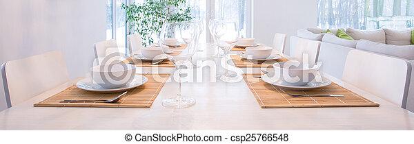 Elegant laid table - csp25766548