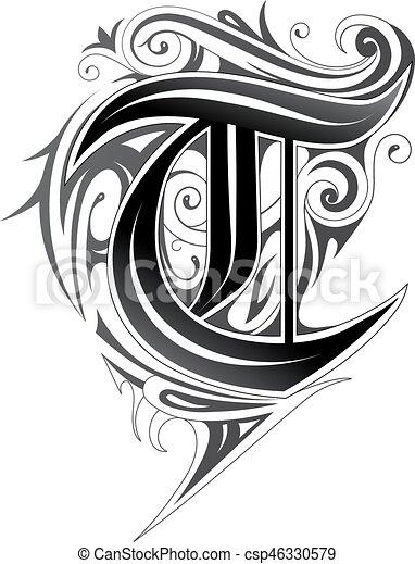Decorative Letter A.Elegant Letter Font T
