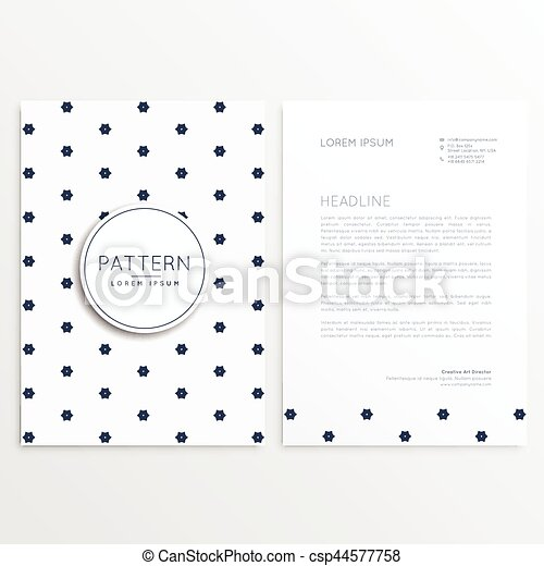 Elegant Letterhead Design With Front And Back Sides