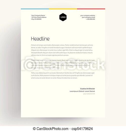 Elegant Letterhead Template Design In Minimalist Style   Vector