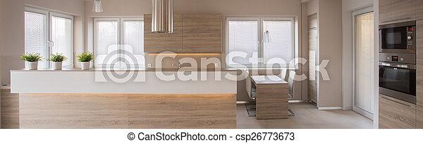 elegant, luxus, kueche  - csp26773673