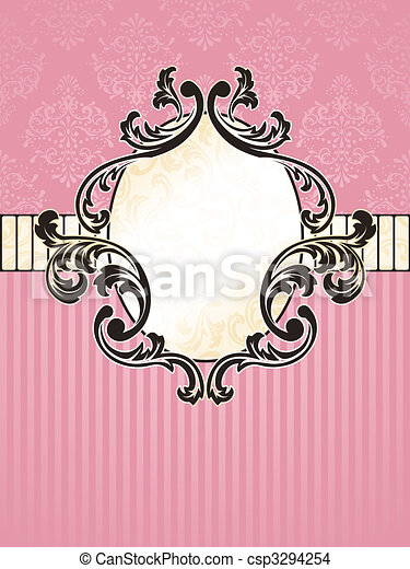 Elegant oval French vintage label - csp3294254
