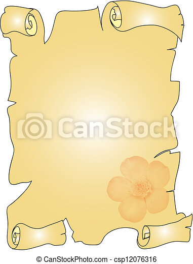 elegant parchment - csp12076316