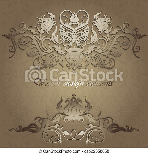 elegant patterns on a seamless background - csp22558658