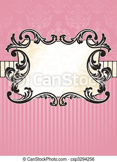 Elegant rectangular French vintage label - csp3294256