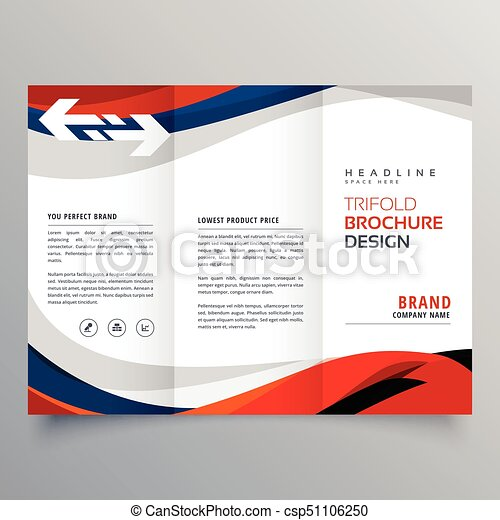 Elegant red and blue wave business tri fold brochure design template elegant red and blue wave business tri fold brochure design template csp51106250 friedricerecipe Choice Image