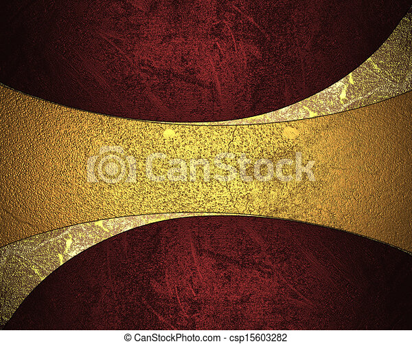 elegant red background with yellow plate design element template