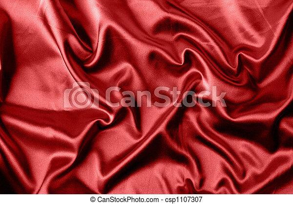 elegant red satin background - csp1107307