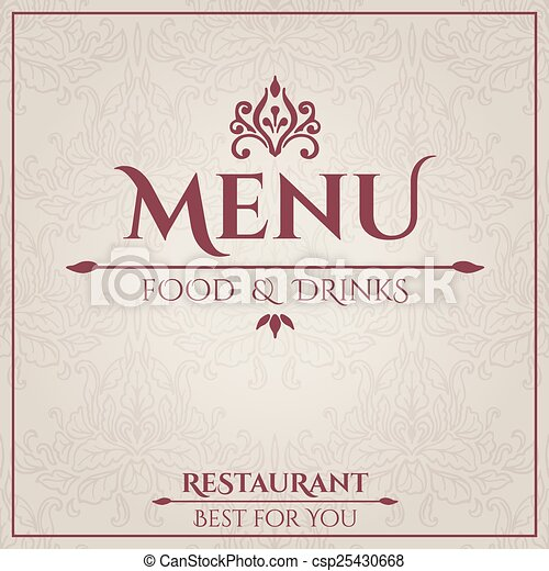 elegant restaurant menu design elegant vintage restaurant menu
