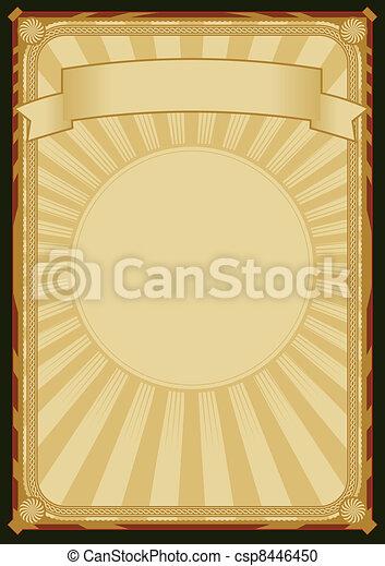 elegant, retro, bakgrund, affisch - csp8446450