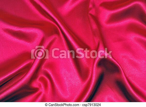 elegant, satijn, zacht, rood - csp7913024