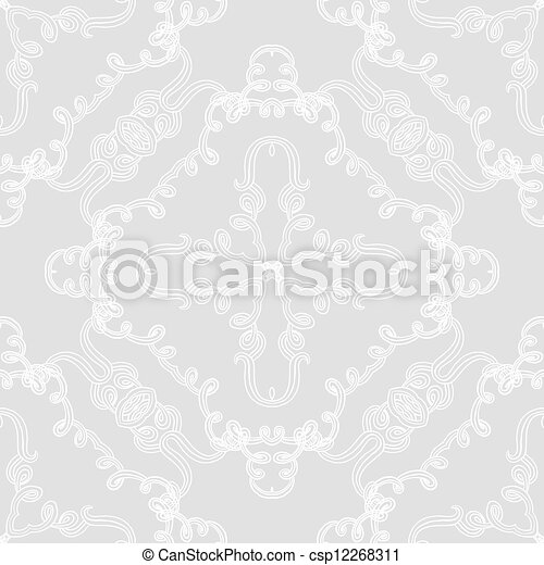 elegant seamless vector pattern wedding wrapping hand drawn linear